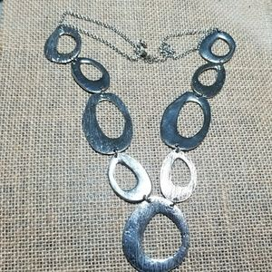 """Jewelry - 22"""" Silver Statement Necklace"""